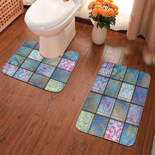 Alfombra de baño antideslizante, alfombra de baño de microfibra para baño, multi