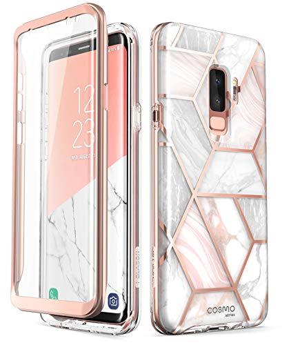 i-Blason Funda Galaxy S9 Plus [Cosmo] 360 Carcasa Completa con Protector de Pantalla Incorporada para Samsung Galaxy S9 Plus (Mármol)
