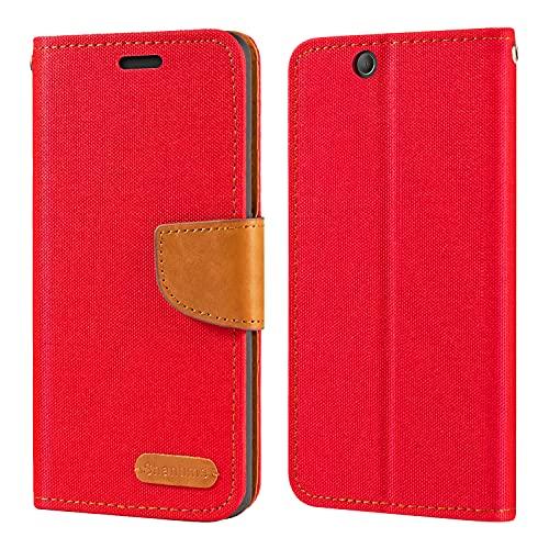 Sony Xperia Z Ultra XL39H - Funda tipo cartera de piel Oxford con tapa trasera de TPU suave con imán para Sony Xperia Z Ultra XL39H