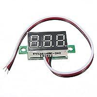 電子モジュール 3デジタルLEDディスプレイボルトメーター電圧計ミニDC 0-32V (Color : Green)
