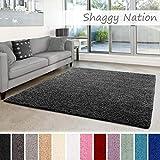 Shaggy-Teppich | Flauschiger Hochflor für Wohnzimmer, Schlafzimmer, Kinderzimmer oder Flur Läufer...