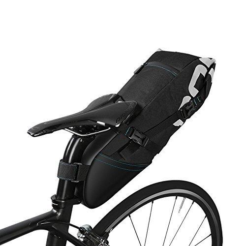 Roswheel 8-LTR groot fietszadel zitzak Rolbare Opening Fietsen Mountain Bike-Pack Opbergtas