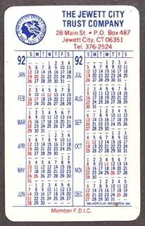 Jewett City Trust pocket calendar 1992 Jewett City CT