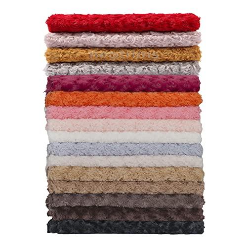 Soft Pile Minkee Rose Piel de tela, telón de fondo de fotografía de bebé, artesanías y ropa. Impresionantes colores terrosos, piel con patrón de remolino rosa, Sherbet Pink, Fat Square
