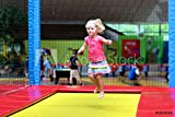 druck-shop24 Wunschmotiv: Little Child Jumping at Trampoline in Indoors Playground. Active Toddler...