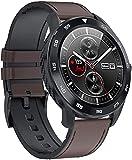 Hombres s negocio reloj inteligente moda pulsera paso calorías contador múltiples deportes fitness seguimiento sueño monitoreo funciones-marrón e