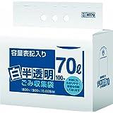 日本サニパック 容量表記入りごみ袋 環優包装 70L 白半透明 HT79 400枚 0.028mm 800X900mm