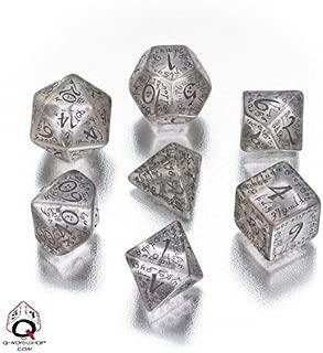 Q WORKSHOP Elvish Dice 7 Board Game, Transparent/Black