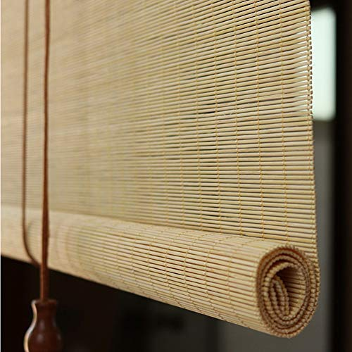 Cortina de Bambu 85cm/ 105cm/ 125cm/ 145cm de Ancho Cortinas Enrollables de Bambú de Estilo Japonés, Gazebo Exterior Patio Pergola Persianas Venecianas (Personalizables)