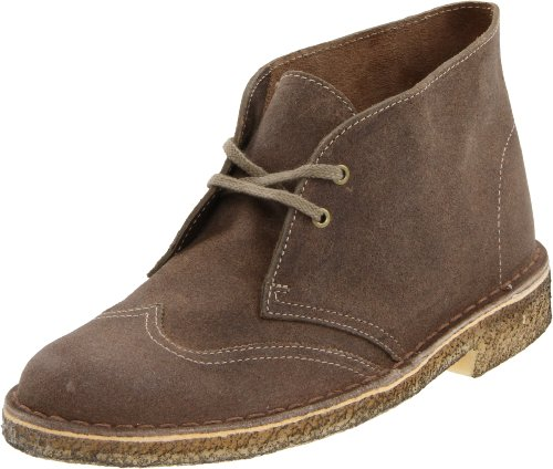 Clarks Women's Desert Wing Women Desert Boot Wing Tip,Taupe Distressed,8.5 M US