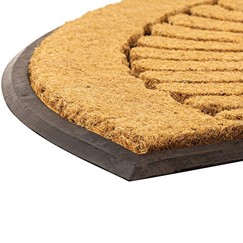 NoTrax, Crescent, Rubber-Backed Natural Coir Doormat, Entry Mat for Indoor or Outdoor Use, 24x39, C04 (C04S1830CR)