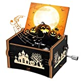 Officygnet Halloween Music Box, The Nightmare Before Christmas Hand Crank Wooden Music Box Gifts for Kids/Girlfriend/Women/Daughter, Plays This is Halloween Melody