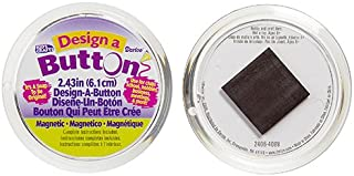 Darice Design Magnetic Buttons for Craftwork, 2.43-Inch, 12 Pieces