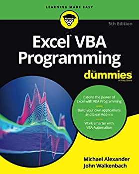 Excel VBA Programming For Dummies 5th Edition