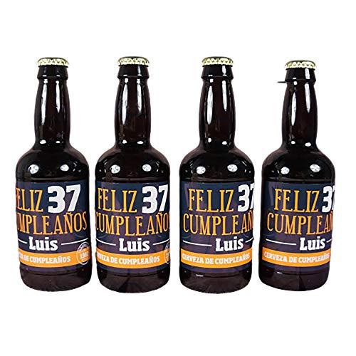 Regalo personalizado para cumpleaños: cervezas personalizadas con edad, nombre, año y la dedicatoria que tú quieras