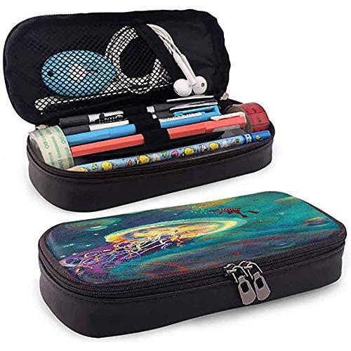 Estuche para lápices, Estuche para lápices, Estuche para lápices, Cremalleras lisas de gran capacidad Medusas submarinas de fantasía 20cm * 9cm * 4cm