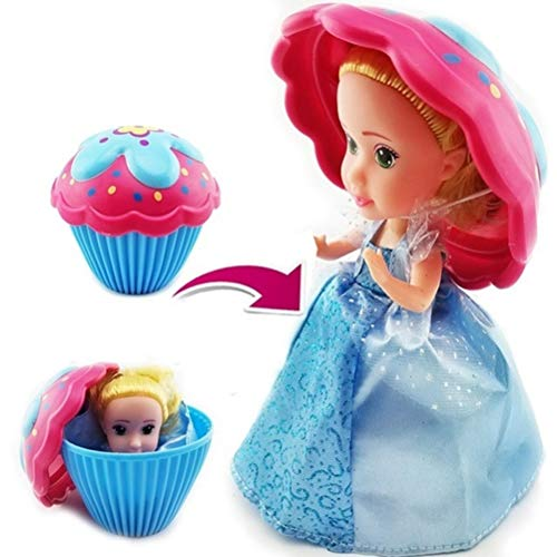 WLPTION Cupcake Surprise Princess Doll Spielhaus Kinderspielzeugkuchen Mini Surprise Doll Deformable Pastry Princess Sweet Girl Geschenk