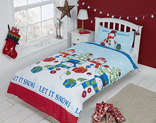 Rapport Let It Snow Snowman Set Copripiumino Singolo, Multicolore