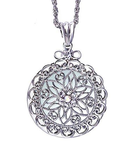 Joyería colgante decorativa del collar de la lupa de la manera, plata