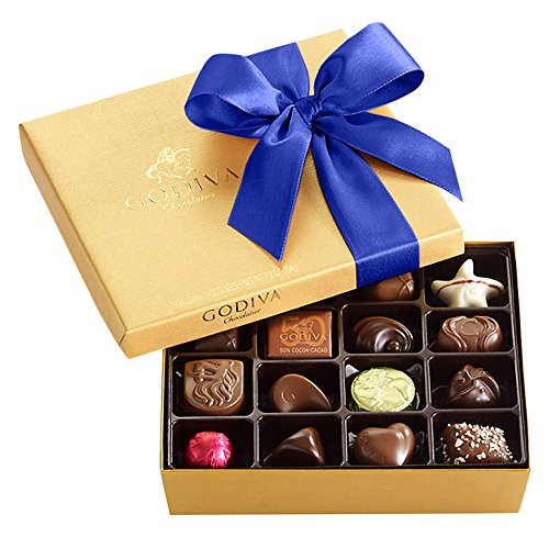 Godiva Chocolatier Chocolate Gold Gift Box, Royal Ribbon, Assorted Chocolates, Chocolate Candy, Chocolate Gifts, 19 Count, Gift Set 1