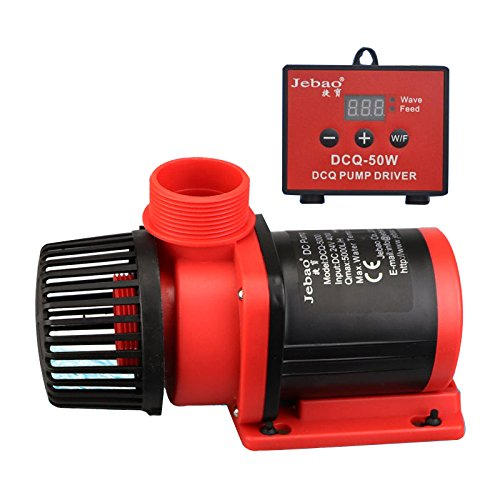 Jebao DCQ 3500 900 GPH DC Flow Adjustable Water Pump Wave Maker with Controller for Aquarium Fish Tank DCS DCT Update (DCQ-8000 (2100 GPH))