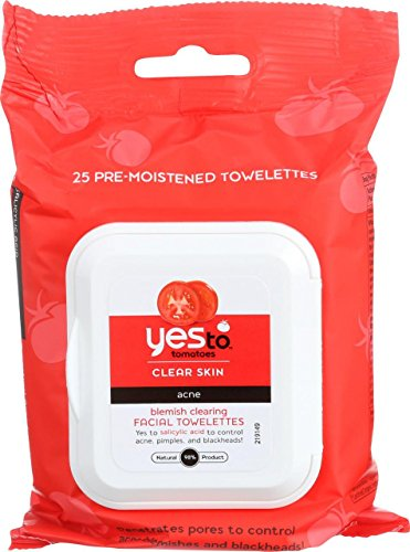 Yes To, Tomatoes, Clear Skin, Acne, Blemish Clearing Facial Wipes, 25 Wipes