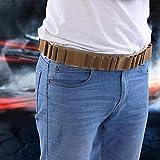 Demeras Cinturones de Cartucho de cinturón de cáscara de Escopeta duraderos Cinturones de Cartucho de Escopeta de Caza Cartucho de Rifle(Khaki)