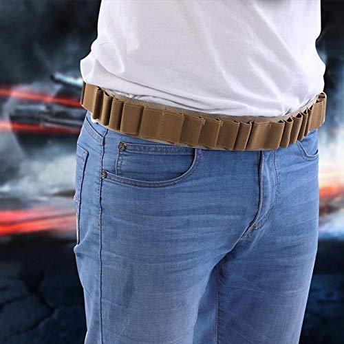 DAUERHAFT Cartucho de Escopeta de Caza Cinturones Estuche de Cartucho Cinturón Bandolera Cinturón Soportes de munición duraderos, Buenos para escopetas y propietarios(Khaki)