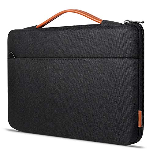 Inateck Custodia PC 14-14,1 Pollici per Notebook Ultrabook, Borsa Valigetta/Ventiquattrore Compatibile con MacBook Pro 15 Pollici 2018/2017/2016 e Surface Laptop 3 da 15 Pollici - Nero