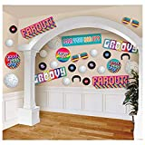 amscan Partydekoration 70er Jahre Disco, Ausschnitte,