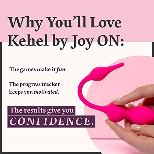 Kegel Exerciser with APP & Vibration: Doctor Recommended Kegel Balls for Tightening & Pelvic Floor Exercises for Beginners & Advanced - Women can Now do Kegels Effectively with Kehel by Joy ON Toys