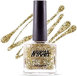 Nykaa Star Studded Glitter Coat Nail Enamel - 226 Golden Ticket (9ml)