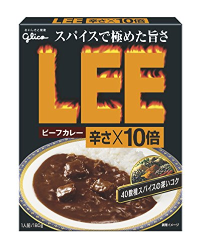 LEE ビーフカレー 辛さ×10倍 180g×10個