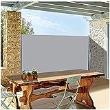 Upstartech Toldo Lateral Retráctil, Protección de privacidad Resistente al Viento y a la Lluvia, Hierro y Aluminio galvanizados, Poliéster 180 g / ㎡ para Balcón, Patio, Jardín