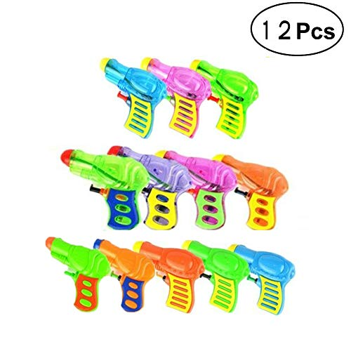 OMZGXGOD 12x Mini Kinder Spritzpistole Klassische Wasserpistole Spielzeug, Geeignet für Kinder Outdoor Party Pool Strand Wasser Kampf Spiel (Zufällige Farbe)
