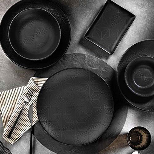 Mitterteich NNTS24Y2894006 Set für 6 Personen in Runderform, bestehend aus 6 Frühstücksteller, 6 Speisetellern, 6 Tiefentellern und 6 Bowls, PORZELLAN