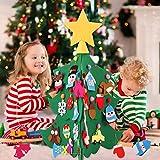 Bageek Arbol de Navidad de Fieltro para Pared,Fieltro Árbol de Navidad DIY Decoración del árbol de Navidad Decoración Colgante para Niño