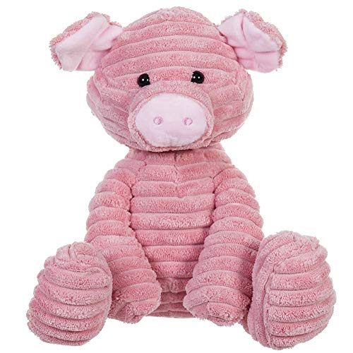 Apricot Lamb Plush Toys Corduroy Pig Stuffed Animal Soft Cuddly Perfect for Child (Corduroy Pig,8.5 Inches)
