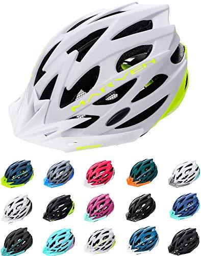 meteor Casco Bicicleta Helmet Bici Ciclismo para Jóvenes y Adulto Bicicleta Patineta Skate Patines Monopatines - Bici Accesorios - El diseño Ligero - Muchos Patrones - Marven