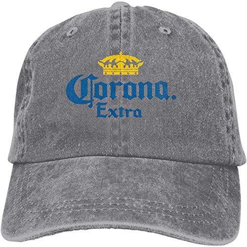 Tengyuntong Gorra Ajustada de algodón Lavado con Sombrero y Logo CoroExtra de Perfil bajo para Hombres o Mujeres