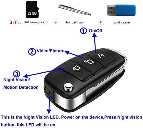 Espion caméra clé de Voiture 32G 1920x1080P HD de l'usine d'origine avec Une Bonne Batterie, Caméra Espion Porte-clé voiture pour enregistrements s820