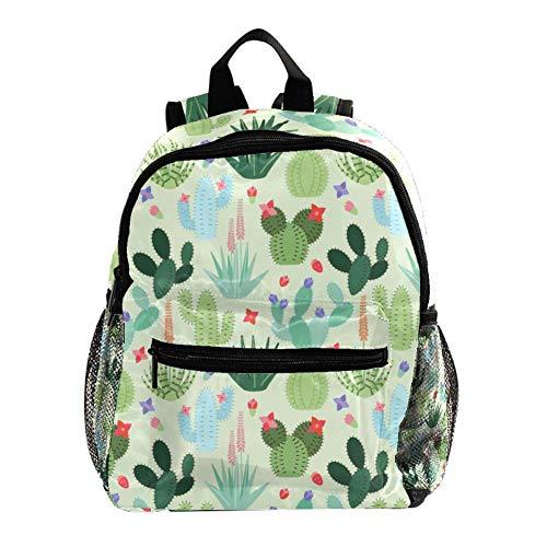 Higo Chumbo Planta Verde Mochila Escolar Mochila Escolar Duradera y versátil Adecuada para niños y Alumnos de jardín de Infantes 25.4x10x30 CM