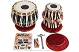 MAHARAJA Tabla Drum Set - Buy 3KG Black Brass Bayan, Finest Dayan with Book, Hammer, Cushions & Cover (PDI-EA)