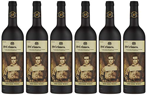 19 Crimes Red Wine, 6 x 75cl