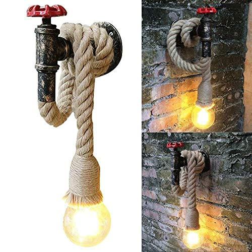 WZYGYDEF waterpijp licht metaal industrieel vintage wandlamp lamp lamp veranda decor (zonder lichtbron)