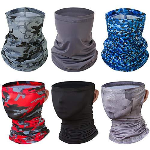 Six Packs Outdoor Ice Silk Turban crème Solaire, Été Hommes et Les Femmes d'équitation, Courir Serviette de Visage, écharpe de Sport Multi-Fonctionnel