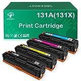 GREENSKY Cartucho de Tóner Compatible de Reemplazo para HP 131X CF210X 131A CF211A CF212A CF213A para HP Laserjet Pro 200 Color M251n Color M276n M251nw M276nw (No Ajuste para M254nw)