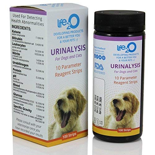 10-in-1 Dog & Cat Urine Test Strip 100ct | Vet-10 Veterinary Grade Pet Wellness Urinalysis Testing Kit | Detect Animal Urinary Tract Infection UTI, Diabetes, Kidney & Liver Function, Infections &More
