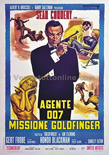 Replica Targa Vintage Agente 007 Missione Goldfinger (Dim. 28x20 CM)