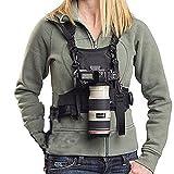 Nicama Chaleco con arnés para cámara con cubos de montaje y correas de seguridad para cámaras Canon 6D 5D2 5D3 Nikon D800 D810 Sony A7S A7R A7S2 Sigma Olympus DSLR